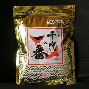 【千代の一番】ゴールド (お徳用) 超高級・和風だし 50包入(8.8g x 50)