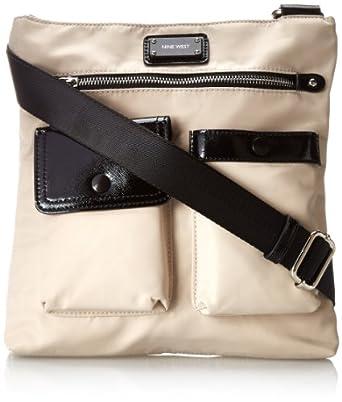 Nine West 9Ontgo Cross B Mz-Stone/Bl SY Cross Body Bag,Stone,One Size