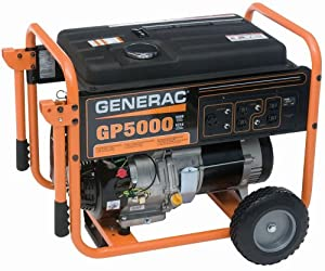 Generac 5622 GP5000 6,250 Watt 389cc OHV Portable Gas Powered Generator (Discontinued by Manufacturer)
