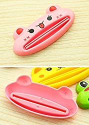 DMtse 4 X Home Design Shaped Toothpaste Tube Squeezers Clip