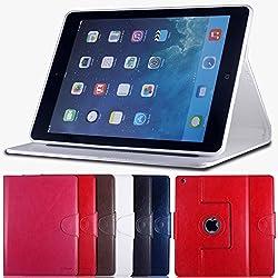 AirCase Premium Leather 360 Degree Rotatable Slim Portfolio Case with Magnetic Closure for Apple iPad Air (White)