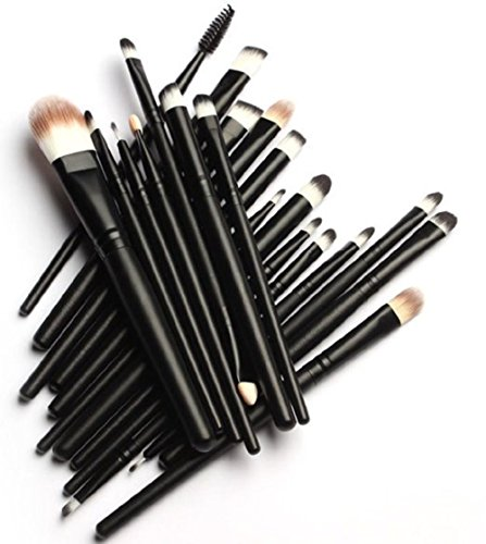 MELADY20pcs Multi-function Pro Cosmetic Powder Foundation Eyeshadow Eyeliner Lip Makeup Brushes Sets (Black) (Brush Package compare prices)