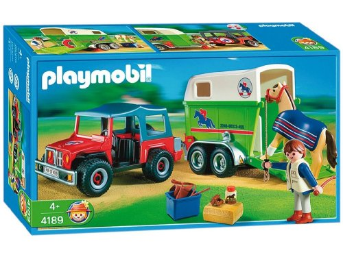 Jouet : Playmobil - 4189 - Playmobil  - Cavalier Avec 4X4