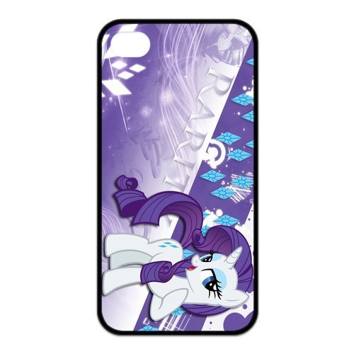 Creative Personalized My Little Pony Rarity Hard Case for Apple iphone 4/4s case-BB936