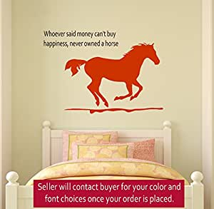 Horse Wall Decal Girls Room Quote Decal Wall Words Decal Teen Bedroom Decal