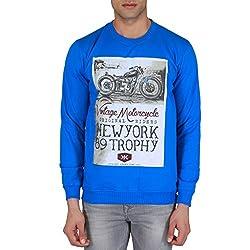 KILLER Men's Cotton Blue Sweatshirt_L