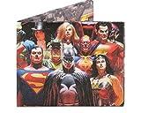 ペーパーウォレット  DCコミックコラボレーション 2折財布 札入れ 水にも強い高密度ポリエチレン素材 ペーパーウォレット 2折財布 札入れ ジャスティスリーグ