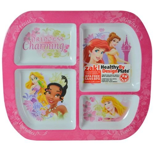 WeGlow International Disney Princess Divided Plate