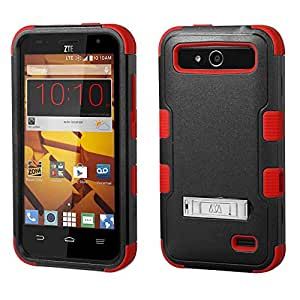 ZTE Speed Case - Armatus Gear (TM) TUFF Hybrid Armor Case Phone Cover For ZTE Speed N9130 (Boost Mobile) - Black/Red
