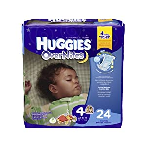 Huggies Overnites Diapers, Size 4, 24 Count