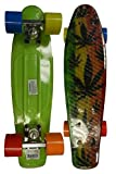 RETRO BOARDS Youth Weed Series Skateboards, Green, 22