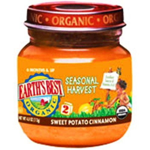 Earth's Best Organic 2nd Seasonal Harvest Sweet Potato Cinnamon, 4 Ounce Jars (Pack of 12)