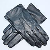 Jasmine Silk Herren Lederhandschuhe aus weichem Ziegennappaleder Cashmere gefüttert Schwarz