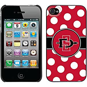 Coveroo Thinshield Snap-On Case for iPhone 4s/4 - Retail Packaging - SDSU Polka Dots Red Design