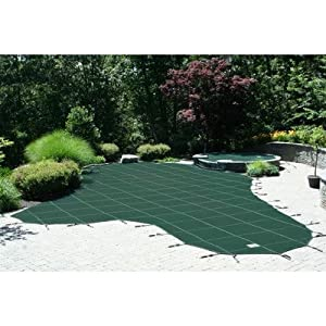 Industrial Mesh Rectangle Safety Cover Step: Left, Rectangle: 16' x 36'