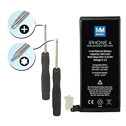 MMOBIEL-iPhone-4-Battery-Replacement-Li-Ion-3.7V-1420mAh-5.25Wh-with-2-x-screwdrivers