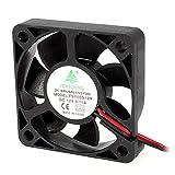 uxcell 冷却ファン DCブラシレス スリーブベアリング 12V 2ピン PC FSY50S12H 50mm x 50mm x 10mm