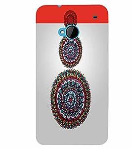 PrintVisa Corporate Print & Pattern Modern Art Circle 3D Hard Polycarbonate Designer Back Case Cover for HTC One M7