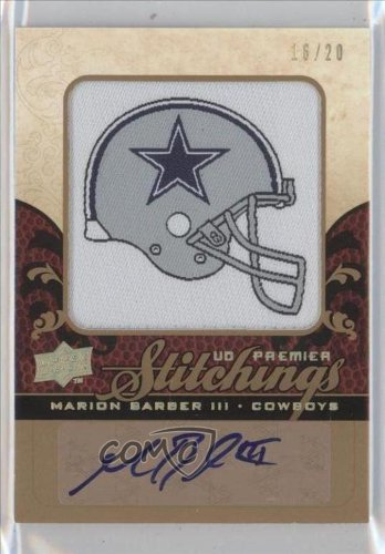 Marion Barber Iii #16/20 Dallas Cowboys (Football Card) 2008 Ud Premier Premier Stitchings Autograph [Autographed] #Ps-Mb
