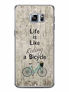 YuBingo Life is Like Riding a Bicycle Designer Mobile Case Back Cover for Samsung Galaxy S6 Edge Plus