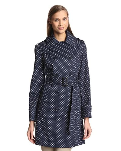 London Fog Women's Double-Breasted Trench with Hood