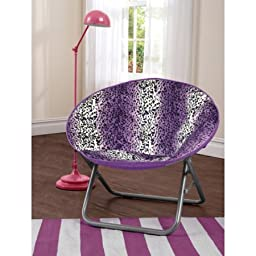 Cocoon Faux Fur Saucer Chair,Purple