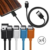 Orzly� Multi-Colour Value Pack of USB 2.0 Type C (USB-C) to Type A (USB-A) Cables (1M) for use with OnePlus 2, Nokia N1 Tablet, Lenovo Zuk Z1, and Other Type-C Supported Smartphones & Tablets