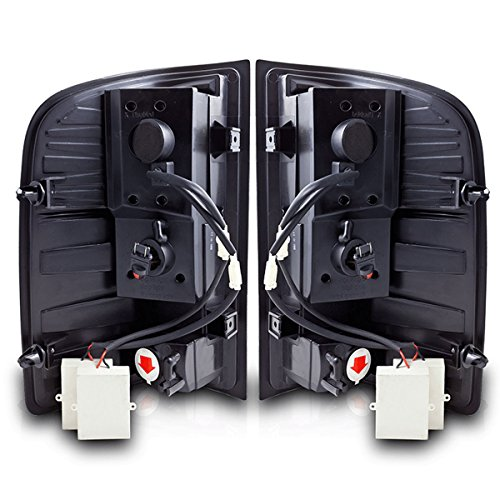 07-10 CHEVY SILVERADO LED TAIL LIGHTS - BLACK / SMOKE (2008 Silverado Taillights compare prices)