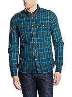 Energie Camisa Hombre Watson (Verde / Azul)