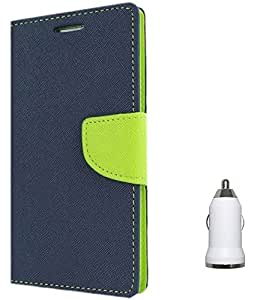 Tidel Premium Table Talk Fancy Diary Wallet Flip Cover Case for Moto G Plus 4th Gen (G4) With USB CAR CHARGER