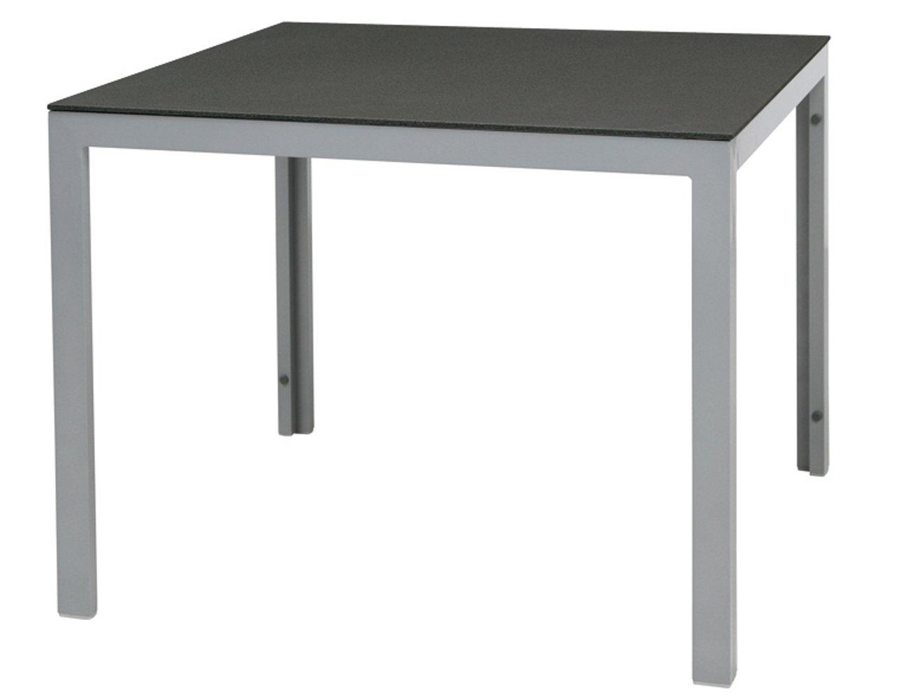 Siena Garden 801152 Tisch Concord, Aluminiumgestell silber, Tischplatte Spraystone anthrazit, 95 x 95 x 75 cm online kaufen
