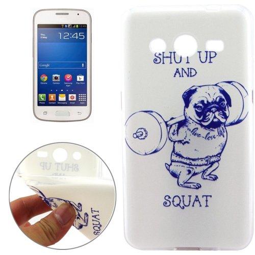Shut Up and Squat Pattern TPU Protective Custodia Case Cover per Samsung Galaxy Core 2 / G355