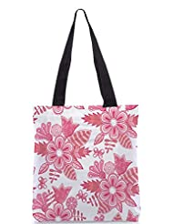 Snoogg Abstract Floral Background Designer Poly Canvas Tote Bag - B012FUC9K6