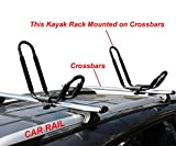 TMS 2 Pairs J-Bar Rack HD Kayak Carrier Canoe Boat Surf Ski Roof Top Mount Car SUV Crossbar