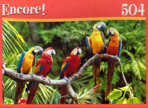 Encore! Pretty Parrots 504 Piece Jigsaw Puzzle