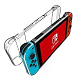 Nintendo Switch Case, Komost Anti-scratch, Shock-Absorption Transparent Crystal, Hard Back Protective Case, Cover for Nintendo Switch
