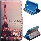 Voguecase� Schutzh�lle Tasche Leder Brieftasche H�lle Case Cover f�r HTC Desire 310 (der Turm im Sonnenuntergang) + Gratis Universal Eingabestift