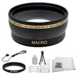 Wide Angle Lens Kit for Sony Alpha 7, a7, Alpha 7R, a7R, NEX-5R, NEX-F3, NEX-6, NEX-7, NEX-5, NEX-5N, NEX-5T, NEX-3, NEX-3N, NEX-C3, NEX-F3 (That Use E-Mount 18-55mm, 30mm, 16mm, 24mm, 55-210mm, 50mm Lenses) Includes: 0.43X Super Wide Angle (with Macro) High Definition Lens, Bonus Lens Cap Keeper, Table Top Tripod, LCD Screen Protectors, Cleaning Kit & Microfiber Cleaning Cloth.