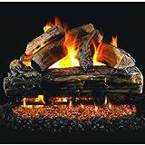 Peterson Real Fyre 24-inch Split Oak Log Set With Vented Natural Gas G4 Burner - Match Light