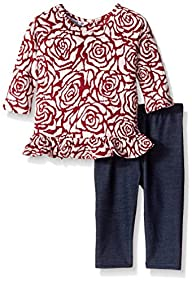 Pippa & Julie Baby-Girls Rose Printed…