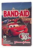 Band-aid Brand Adhesive Bandages with Disney Pixar Cars 2 Style 26 Assorted (1 Box)
