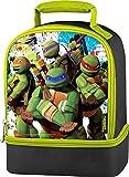 Animated Teenage Mutant Ninja Turtles School Lunch Box Tote Dual Compartment