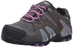 Hi-Tec Aitana Low Waterproof JR Hiking Shoe (Toddler/Little Kid/Big Kid), Charcoal/Grey/Orchid, 1.5 M US Little Kid