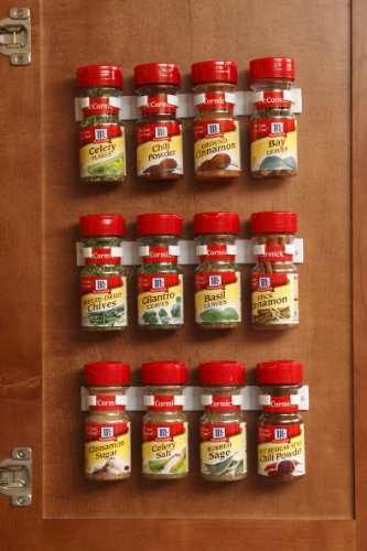 Bellemain Spice Gripper Clip Strips - Set of 3, Holds 12 Jars