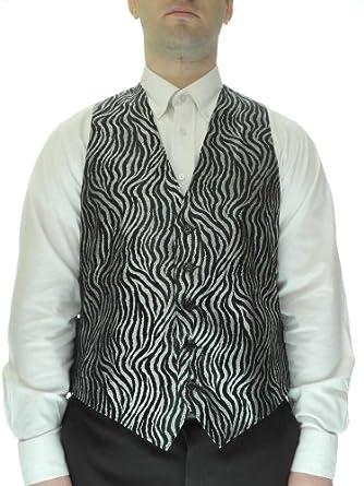 Zebra Print Vest for Men, Small