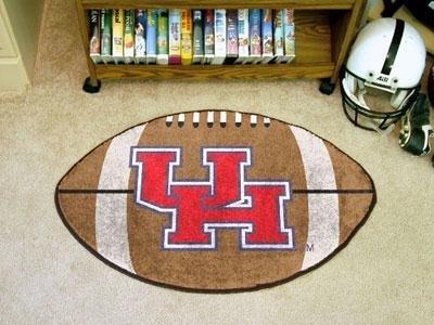 Houston Football Shaped Rug