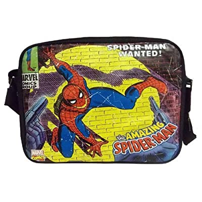 Stylish Comics Close Up Design Marvel Spiderman Messenger Bag by BB Designs
