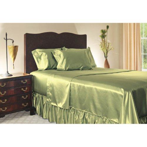 Green Satin Sheets front-124795