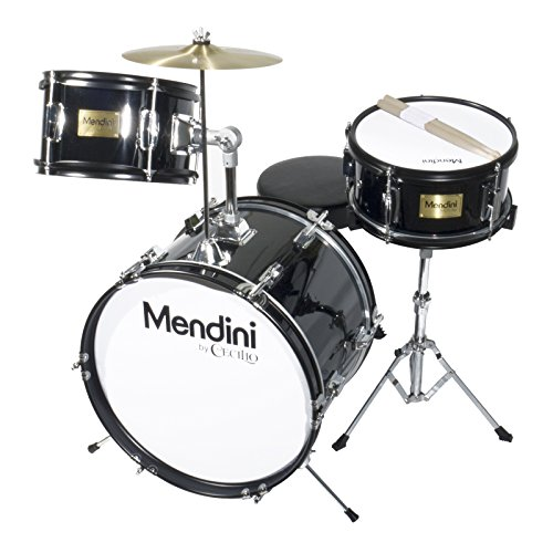 mendini-by-cecilio-16-inch-3-piece-kids-junior-drum-set-with-adjustable-throne-cymbal-pedal-drumstic