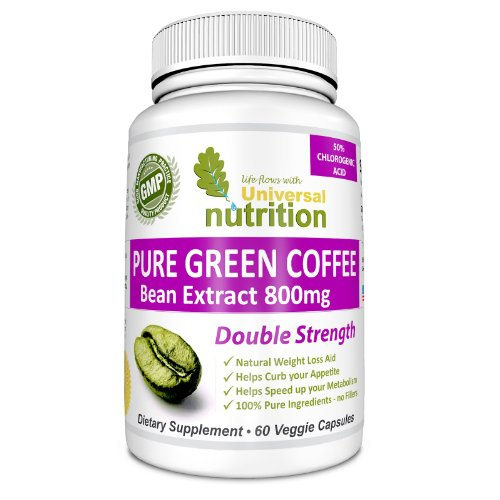 Pure Green Coffee Bean Extract 800 Mg Pills. Buy 2 Get Free Shipping. Full 50% Chlorogenic Acid. Full 1600 Mg Serving Per Day. 100% Pure And Natural Ingredients. No Additives & No Fillers. Top Weight Loss And Appetite Suppressant. Excellent Fat Burning Su